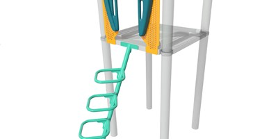 Square Loop Incline Climber w/Vibe® Handholds