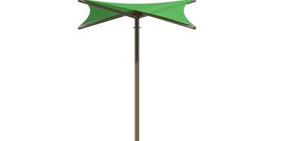SkyWays® Single Post Hypar (10'x10') Shade