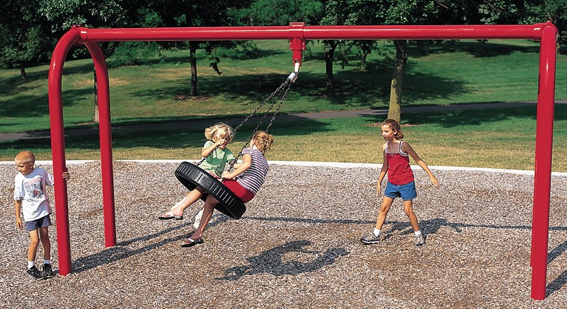 Arch tire swing landscape structures for Swing set frame only