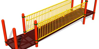 12' Ramp w/Barriers