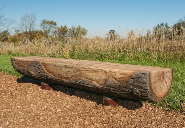 Log Playground Bench Landscape Structures