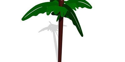 Palm Tree Accent Topper