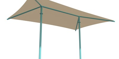 SkyWays® Two-Post Hip (14'x22') Shade