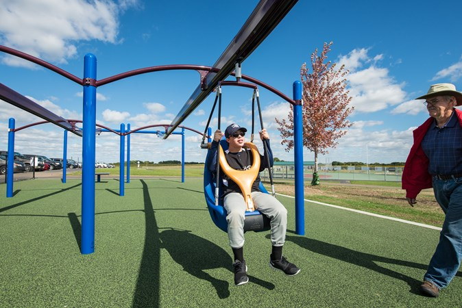 Zip Line Seat >> Zipkrooz Assisted Inclusive Playground Zip Line For Kids Of All
