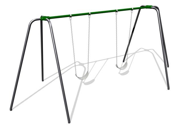 5000 Series Swings - Traditional Swingset with Galvanized Steel Beam ...