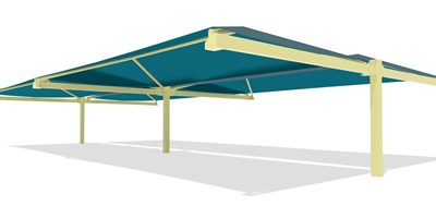 SkyWays® Cantilever Back-to-Back 40'x72' Shade