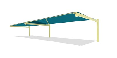 SkyWays® Cantilever 20'x72' Shade