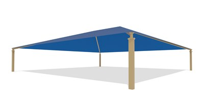 SkyWays® Hip (60'x60') Shade