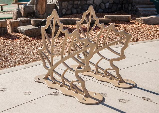 Leaf Bike Rack Holds 4 Bikes Nature Inspired