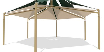 SkyWays® Hexagon, Double Layer 35' Diameter