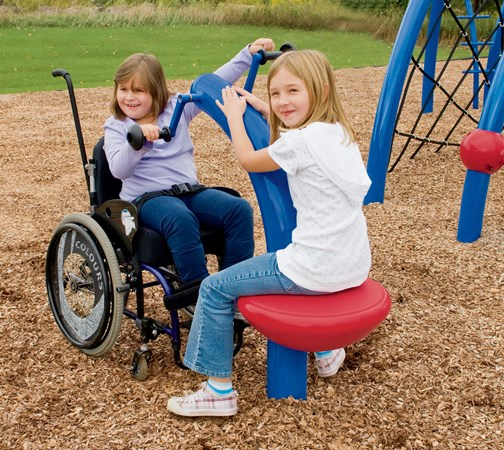 Wheelchair Accessible Cycler Modern Playground Cycling