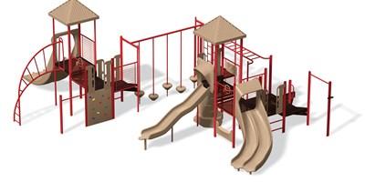Playsense Design 403 Barrier Panels Loop Ladder Talk Tube Summit Climber Landscape Structures