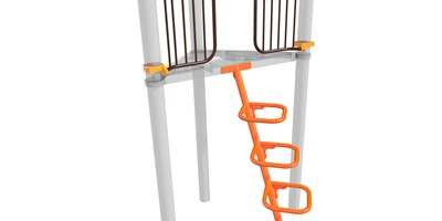 Square Loop Incline Climber 90° Tri-Deck