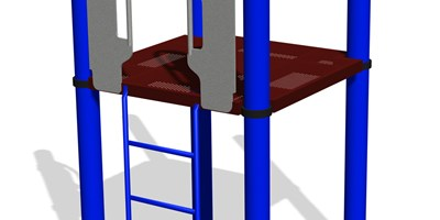 Vertical Ladder w/SteelX® Handholds