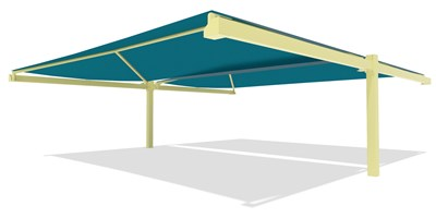 SkyWays® Cantilever Back-to-Back 40'x36' Shade