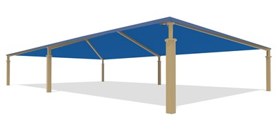 SkyWays® Hip (40'x70') Shade