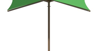 SkyWays® Single Post Hypar (16'x16') Shade