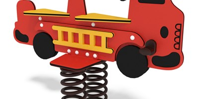 TuffRiders® Fire Engine w/Coil Spring