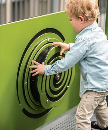 Rain Sound Wheel Panel - Interactive Panel that Stimulates Senses