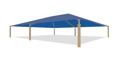 SkyWays® Hip (60'x70') Shade