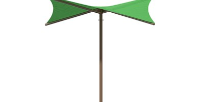 SkyWays® Single Post Hypar (14'x14') Shade