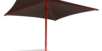 SkyWays® Single Post Pyramid (16'x16') Shade
