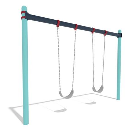 Single Post Swings Economically Designed Space Saving Swing Set