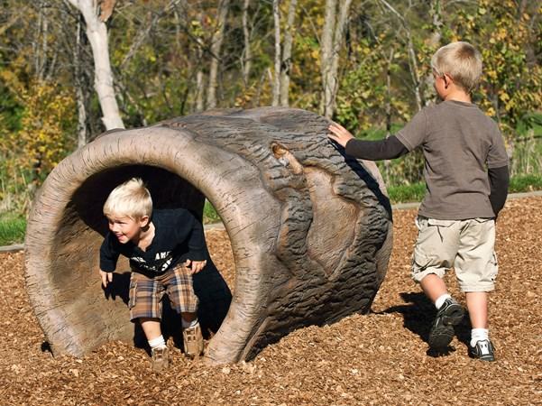 Play Naturally Log Crawl Playground Tunnel