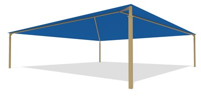 SkyWays® Hip (40'x40') Shade