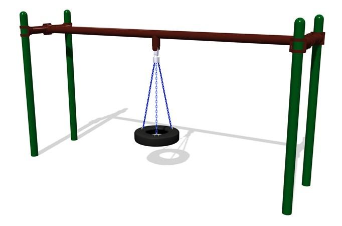 Tire Swing w/4 Posts
