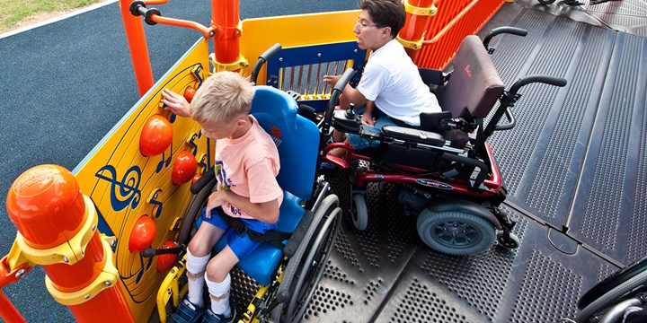 Playground Accessibility... Learn why we're going beyond the ADA requirements to welcome children of all abilities to play.