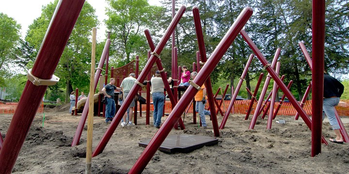 Community Playground Build... Install your playground as a community build project to help save costs and foster relationships.