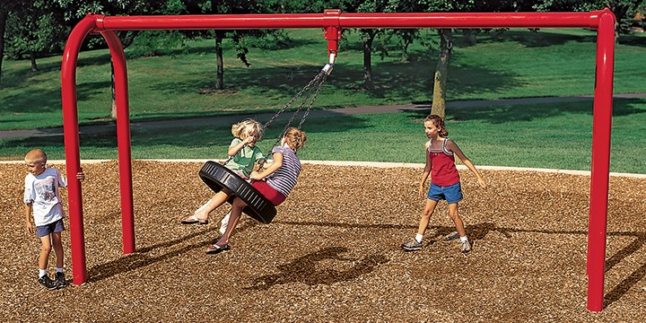 Swinging Playground Equipment : Playground swings for commercial playgrounds landscape