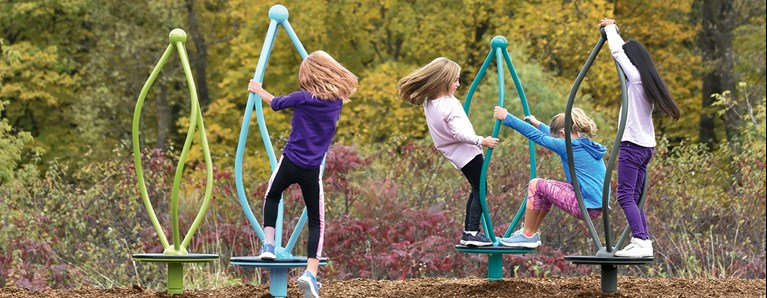 Engage the Senses with New Playground Spinners