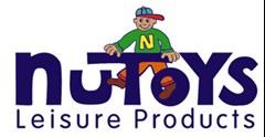 NuToys Leisure Products logo made of young cartoon boy standing on purple NuToys text and below text reading: Leisure Products.
