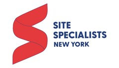 "Site Specialists logo made of lower-case text, ""Site"" in red, ""Specialists ltd"" in gray, with red and gray swiggles underneath text. Grey text below reads: Recreation Equipment & Planning."