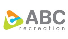 "ABC logo made up of a rounded triangle with the tip orange and the base lime green with white lower case ""b"" cut out in the center. A blue ""i"" sitting sideways through the triangle meeting in the middle of the ""b"" cut out. Grey text to the right of the triangle in all uppercase reading: ABC. Below in all lower case text reads: recreation."