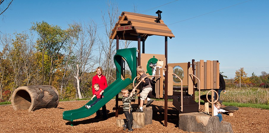 Treehouse themed playground for kids aged 2 to 5 years