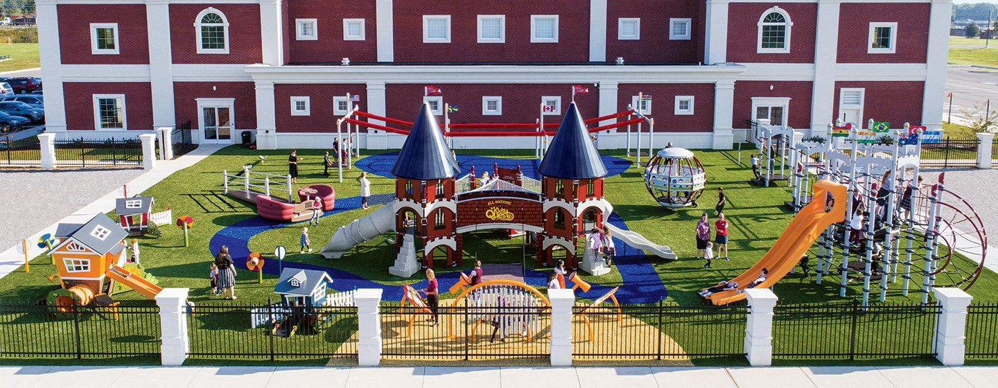 All-Nations KidzQuest, First Apostolic Church - Castle-Themed Playground