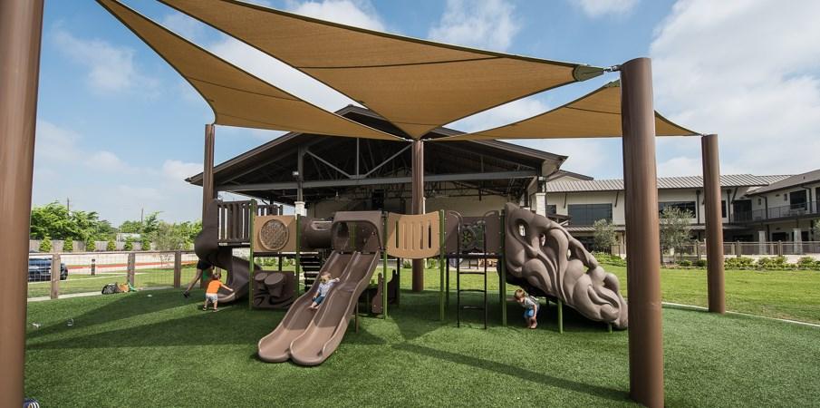 Grace Bible Church Sun Shaded Playground Equipment