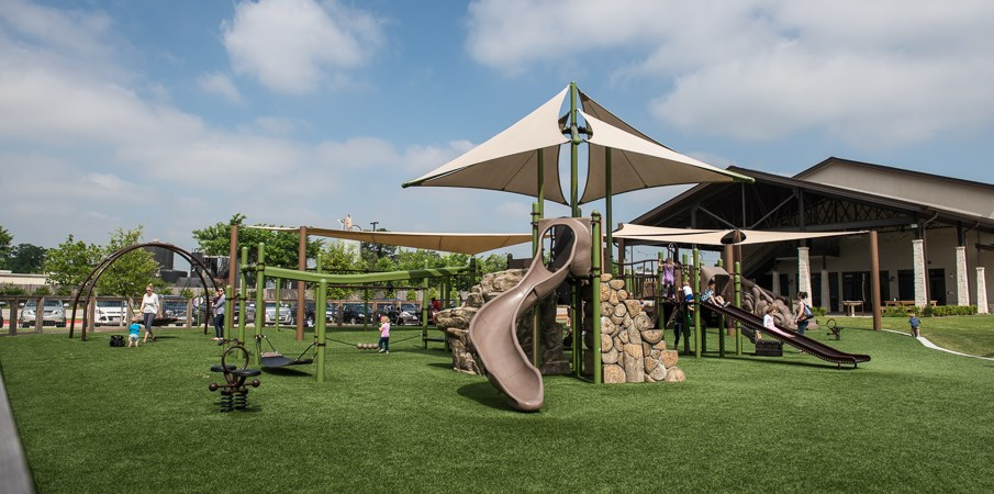 Grace Bible Church - Sun-Shaded Playground Equipment