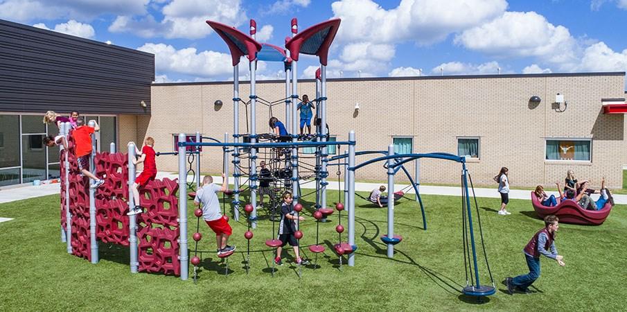 Meadow Brook Intermediate School - Schoolyard Playground