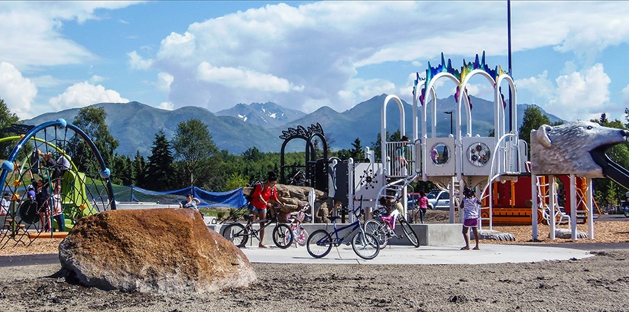 North Russian Jack Springs Park Themed Playground