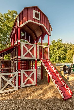 Sibley Park Farmstead Themed Playground