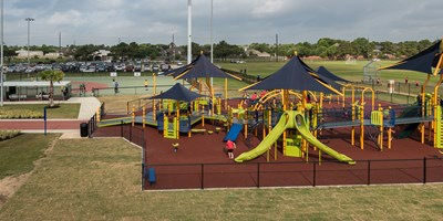 The Miracle League at the Langham Creek Family YMCA, Cleary Family Playground