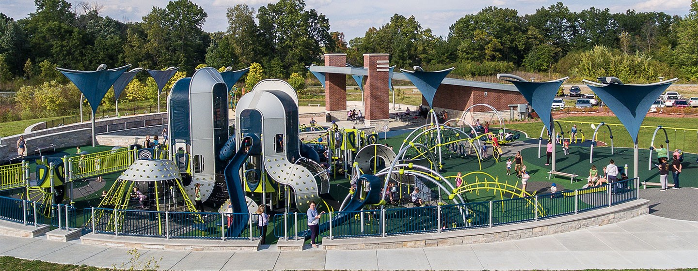 Playground at Central Park Indiana